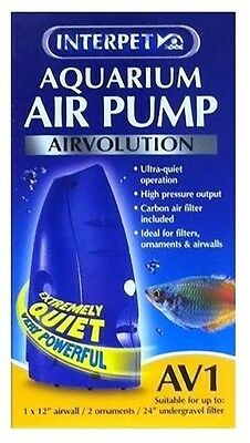 Interpet Airvolution AV1 AV 1 Aquarium Fish Tank Tropical Coldwater Air Pump • EUR 24,18