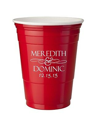 1,000 Custom Personalized 16oz Red Solo Cups Wedding Favors Bar Cups
