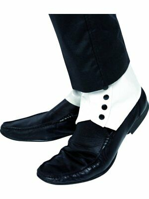 20s 1920s Gangster Spats PVC Fancy Dress Shoe Covers Al Capone Spatz by Smiffys