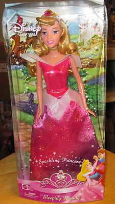 Disney Sparkling Princess Aurora Doll from Sleeping Beauty Barbie type 2008