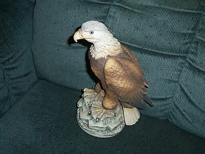 "Andrea by Sadek Bald Eagle Figurine 7 1/2"" Tall EC"