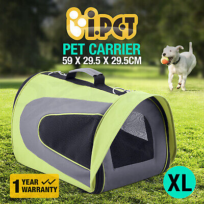 iPET Pet Carrier Dog Cat Portable Soft Cage Foldable Kennel Travel Bag XL Green