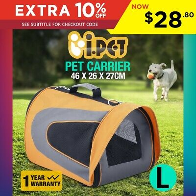 Large Pet Carrier Dog Cat Soft Crate Cage Portable Foldable Travel Bag