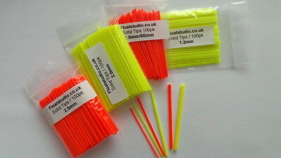 Solid Plastic Pole Float Tips 1.0-2.0mm Free Shipping!! (float making) 100pk