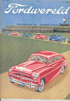 1949 Ford Lincoln Mercury Anglia Netherlands Brochure Car Truck Vedette wt7386
