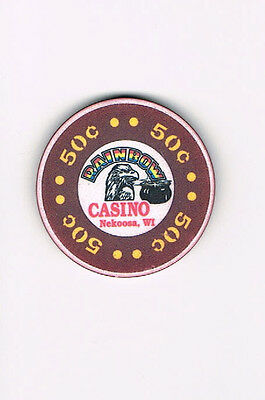 Nekoosa, WI Wisconsin - Rainbow Casino - 50 Cent Casino Chip  FREE SHIPPING