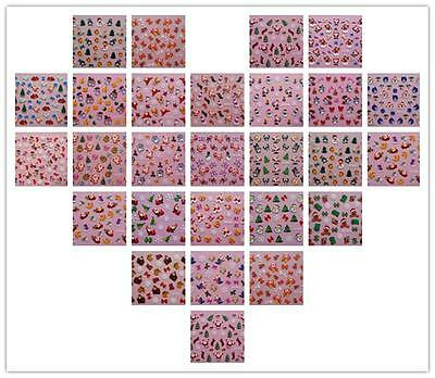 Lot 20pcs  3D Design Nail Art Stickers ChristmasTip Decal Nail Art Stickers Gift