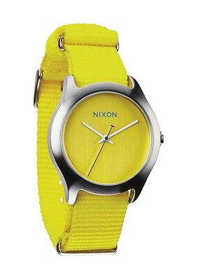 Authentic Nixon MOD Bright Yellow Watch A348 1599 Brand New In Box! A3481599
