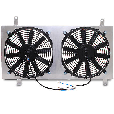 UNIVERSAL 80w ELECTRIC ALUMINIUM ALLOY CUSTOM RACE SPORT RADIATOR FAN SHROUD KIT