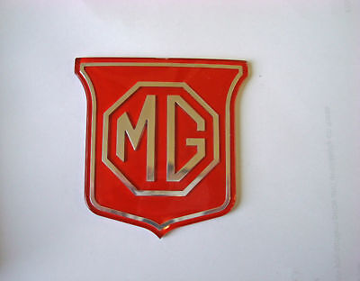 MG Midget Front Grille Badge (Red & Silver) BHH829