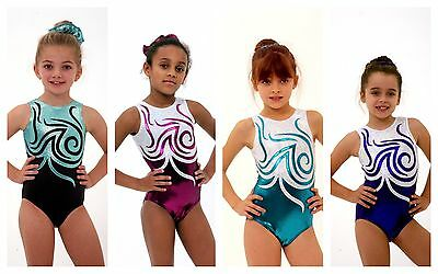 ALL SIZES *Chantelle* Bodice Foil Girls Gymnastics Leotard 26,28,30,32,34,36,38