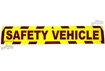 Sticker Safety Vehicle Hi Viz Car Van Sign Race Day Danger Warning Security S039