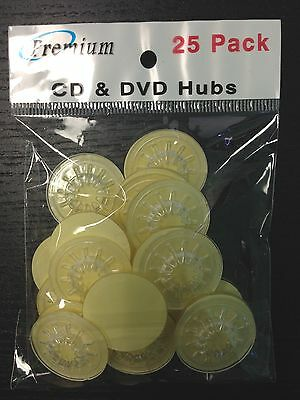 100 Clear Plastic CD DVD Blu Ray Hub Mounting Sticker
