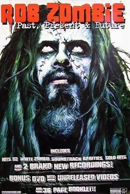 ROB ZOMBIE 2003 HUGE pastpresentfuture promotional poster ~MINT condition~NOS~!
