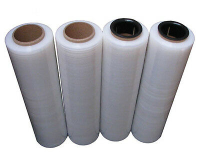 4 Rolls 500mm x 450m Meter 17um Clear Stretch Film Pallet Wrap Hand Wrapping