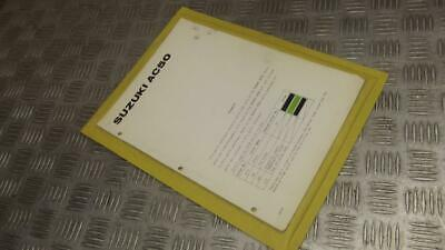 Suzuki AC50 AC 50 Rare Parts Catalogue