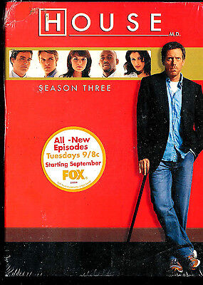 House - Season Three (DVD, 2007, 5-Disc Set) Hugh Laurie- SEALED BRAND NEW