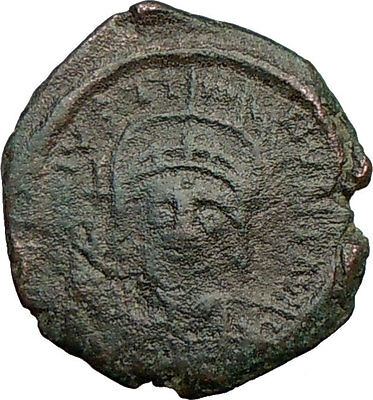 Justin II 565AD Ancient Genuine Medieval BYZANTINE Coin Large M  i22663