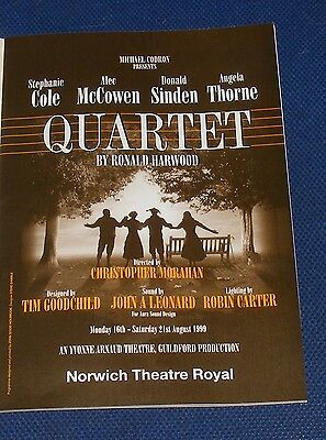 Quartet By Ronald Harwood Theatre Royal Norwich 16-21 August 1999
