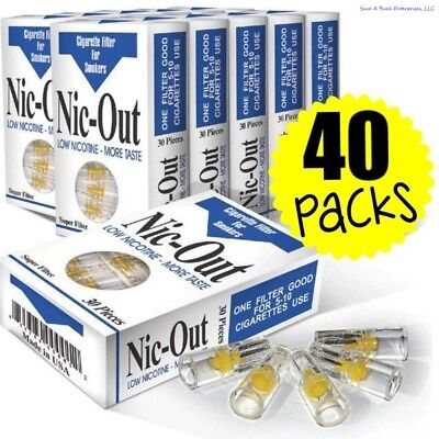 40 Nic-Out packs - Cigarette Filters Tar Nicotine (1200 Filters) wholesale