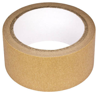 48mm x 25m Craft Self Adhesive Kraft Framing Paper Brown Packaging Packing Tape
