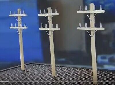 ELECTRICAL UTILITY POLES / G Scale Outdoor Railroad / Lineman / Garden Scenery