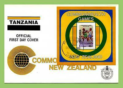 Tanzania 1990 Commonwealth Games, Boxing M/S on First Day Cover