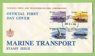 Tanzania 1990 Marine Transport set First Day Cover