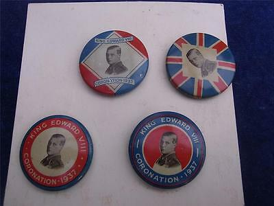 King EDWARD VIII   Complete Set of PROPOSED CORONATION Pin Badges May 37