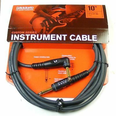 Planet Waves 10' Custom Series Cable,Right Angle-Straight Jack. P/No:PW-GRA-10