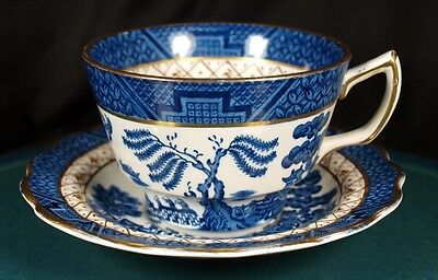 Booths Real Old Willow Cups & Saucers - A8025 - NEW !