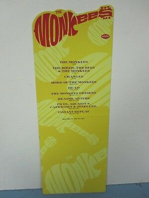 THE MONKEES 1995 collection RHINO RECORDS plastic store divider MINT rare