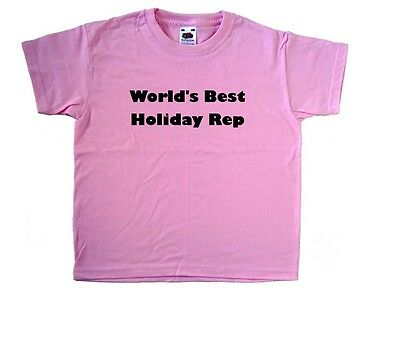 World's Best Holiday Rep Pink Kids T-Shirt