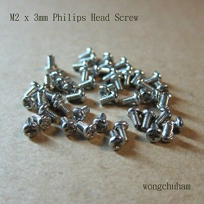 50 pcs M2 x 3mm Philips Head Screw