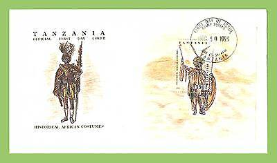 Tanzania 1993 Traditional African Costume miniature sheet First Day Cover