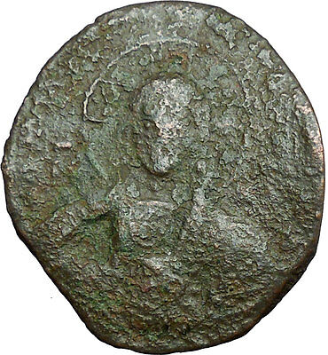JESUS CHRIST Class A2 Anonymous Ancient 1028AD Byzantine Follis Coin  i34683