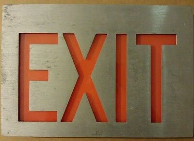 Vintage MILLER Exit Sign RED made in the USA
