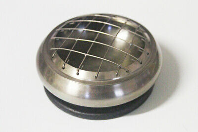 AQ PEWTER SCREEN Charcoal Resin Incense Burner / Censer / Stand * SILVER TONE