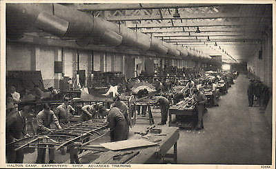 Halton RAF Camp by Photochrom # 63664. Carpenters' Shop. Advanced Training.