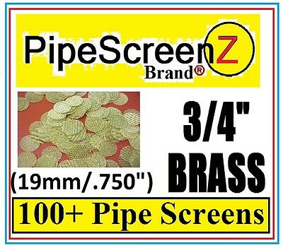 "PipeScreenZ™ .750"" 3/4"" Brass Tobacco Pipe Screens 100+ Count MADE IN THE USA!!"