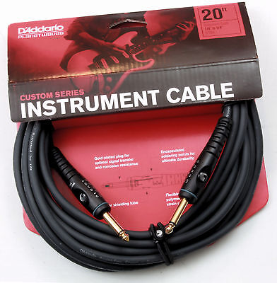 Planet Waves 20' Custom Series Cable - Straight-Straight. PW-G-20