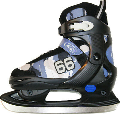 Axces verstellbare Schlittschuhe Flash jun. 40-43 blau Kinder Eishockey Skate