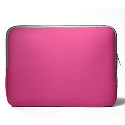 """PINK Zipper Sleeve Bag Case Cover for All Laptop 13"""" Macbook / Pro / Air"""