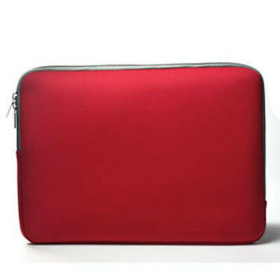 """RED Zipper Sleeve Bag Case Cover for All Laptop 13"""" Macbook / Pro / Air"""