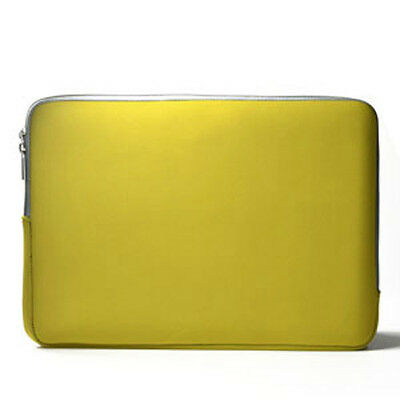 """YELLOW  Zipper Sleeve Bag Case Cover for All Laptop 13"""" Macbook / Pro / Air"""