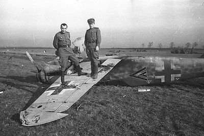 WWII B&W Photo Russian Soldiers Downed Bf109 World War Two Luftwaffe  WW2 /1065