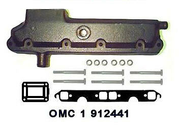 OMC Log Style Manifold - Starboard Side (1979-89) - OMC-1-912441