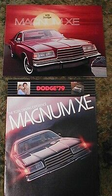 1978 & 1979 Dodge Magnum XE Catalog Brochure