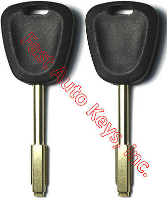 2 (PAIR) NEW JAGUAR REPLACEMENT TRANSPONDER CHIPPED UNCUT MASTER KEY BLANK