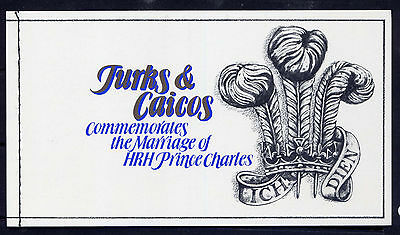 TURKS & CAICOS ISLAND Sc#1055 Bklt 1981 Royal Wedding MNH